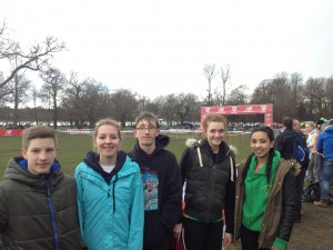Our Five English Schools Championships Representatives - Jordan, Becky, Jacob, Sophie and Alex - Well done to you all