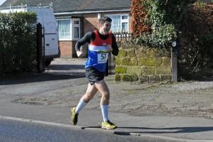 John flying towards the finish