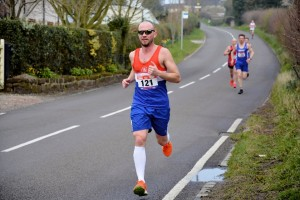 Martyn at 4 miles.