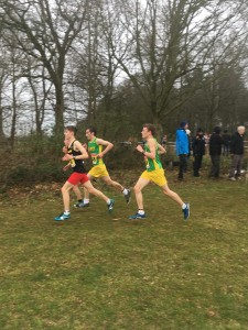 Jacob and Lewis - Racing hard with 800m to go.