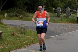 Rachel running Leg 3