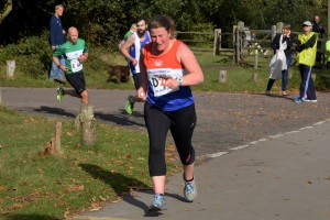 Helen running Leg 4 for Newcastle B