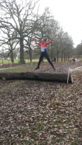 Rachel enjoying the log jump