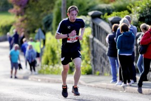 Jacob on his way to victory at the Mow Cop Killer Mile