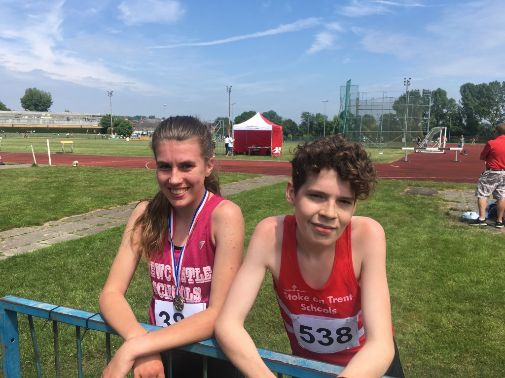 Nadine and Elliot - Both qualified in the 3000m