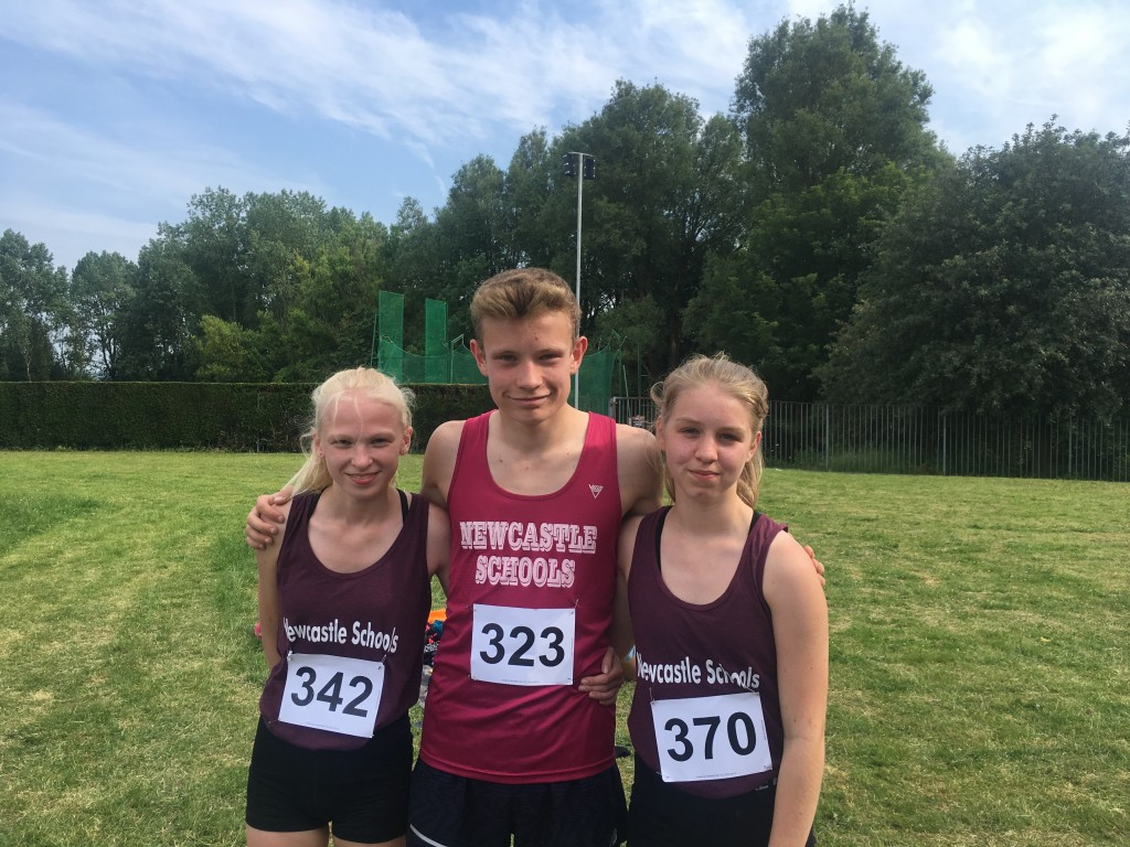 Lizzie, Lewis and Misha - All representing Staffordshire Schools next week