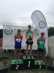 Lewis U/17 Mens 1500m Silver