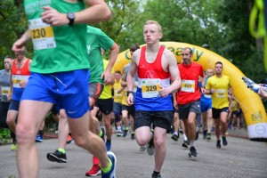Thomas at the start of the Dougie Mac 10km