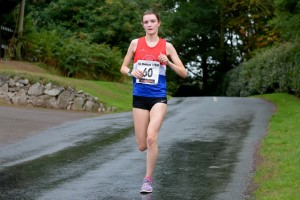 Sophie - 2nd at St Thomas 7 mile road Race