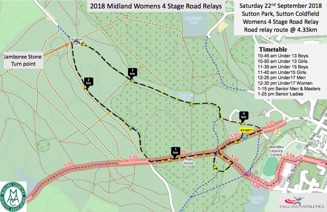 Midlands Road Relay Championships – 22/9/2018