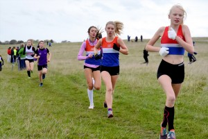 Lizzie, Misha and Scarlett - racing to team victory
