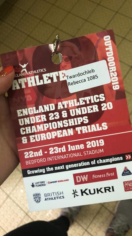 England U23 Track & Field Championships (inc Euro Trial) – 22/6/2019