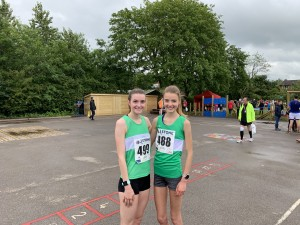 Sophie 1st and Lauren 2nd at the Stone 10km (including Inter County Challenge)