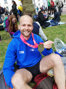 Tim - first finisher in