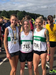 Lauren with Teammates Claire Martin and Charlotte Taylor-Green